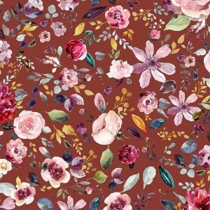 Jersey Organico Henna Flowers