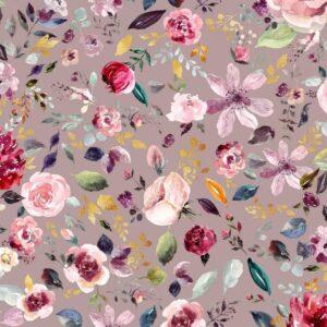 Jersey Organico Rose Flowers