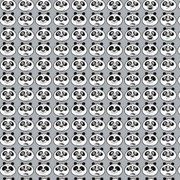 Cotone Grigio Kung Fu Panda