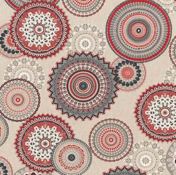 Cotone Canvas Mandala Red