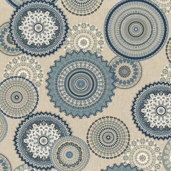 Cotone Canvas Mandala Blu