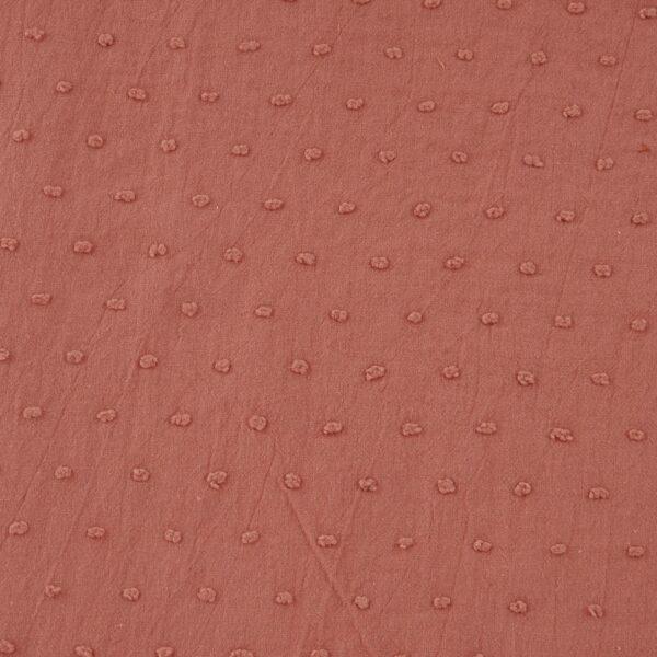 Plumetis puro cotone Goffrato Marsala