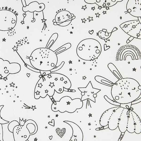 Cotone da Colorare Fairy Bunny