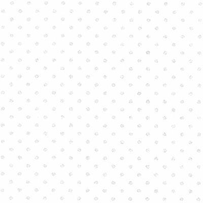 Cotone Bianco con Pois Bianchi