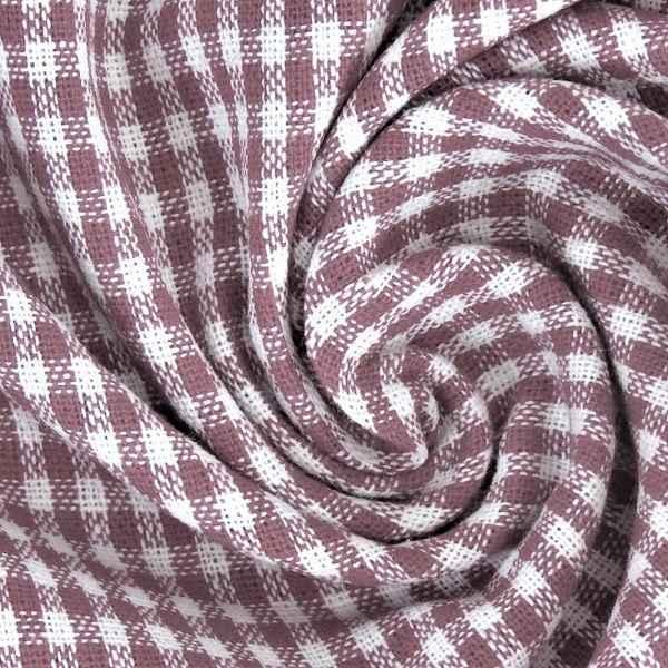 Tessuto a Quadretti Rosa Antico