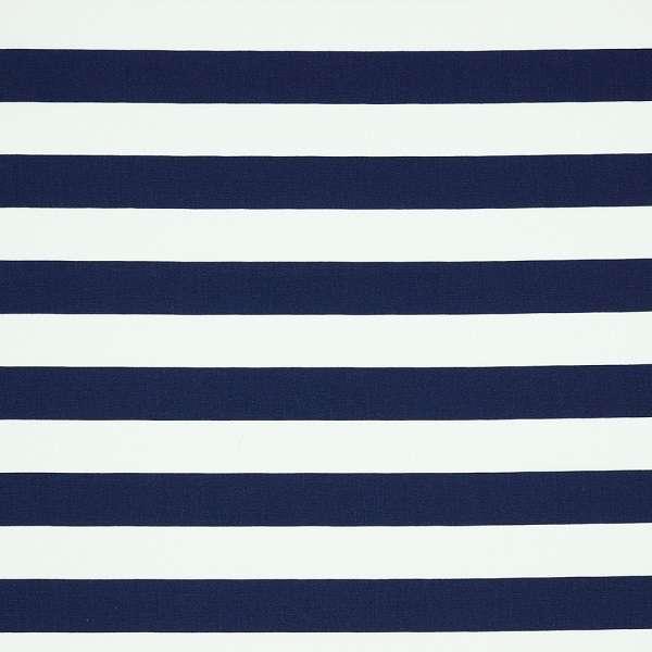 Cotone a Righe Blu Navy