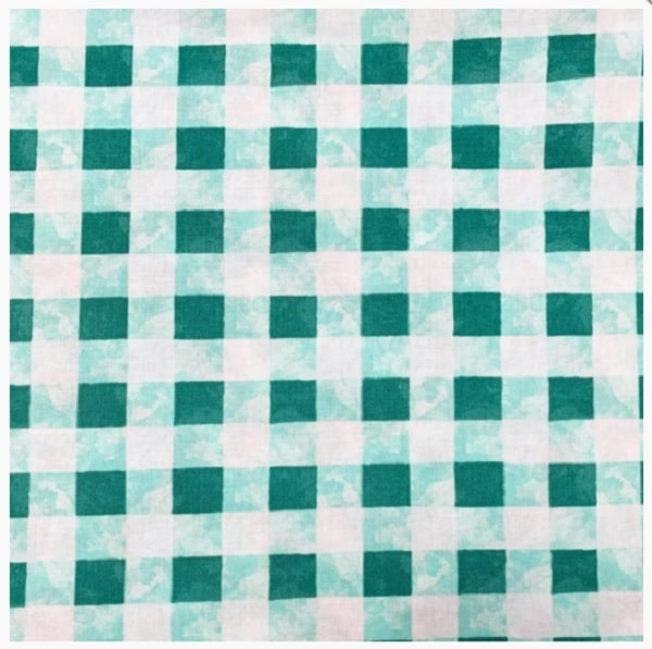 Cotone Bloom Turquoise Check
