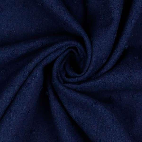 Plumetis puro cotone Blu Navy