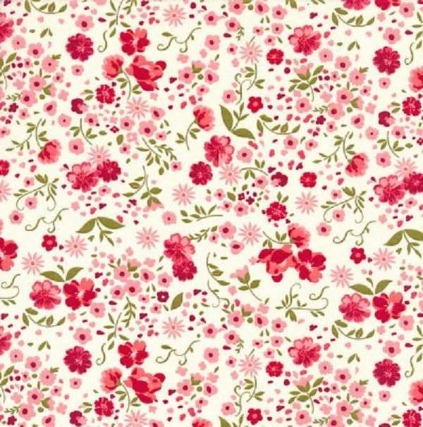 Cotone Ivory Flowers Small