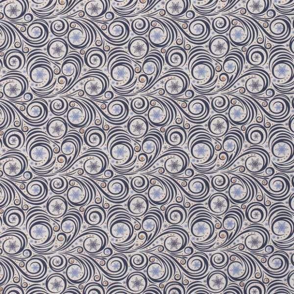Cotone Natalizio Abstract Snowflakes