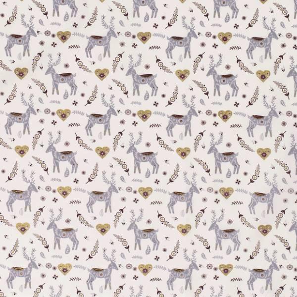 Cotone Natalizio Gold Deer